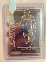 2020-21 Panini Prizm James Wiseman RC Rookie EMERGENT  Insert #13 Warriors
