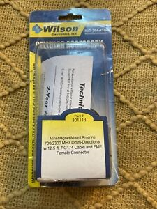 WILSON 301113 MINI-MAGNET MOUNT ANTENNA 12.5' FOOT CABLE
