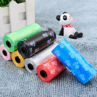 1~10Rolls Pet Dog Cat Waste Pet Up Bags Dispenser Biodegradable Bag Random Color