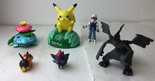 Pokemon Assorted Action Figure Lot Of 6 Pikachu, Zekrom, Ash Ketchum, Etc.