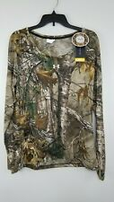 NWT Women's Under Armour L Realtree Camo Hunting Long Sleeve Crew Shirt 1298753