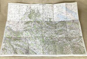 1948 Vintage Map of Switzerland Frauenfeld Thurgau Swiss Zurich Schaffhausen