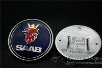 SAAB 9-3 9000 900 RESIN FRONT HOOD BONNET BADGE 50MM BRAND NEW PART # 4522884