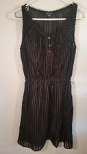 "Women's I Love Ronson Sheer Black Sleeveless lined dress Size XS Bust 32"""