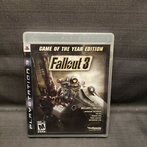 Fallout 3 -- Game of the Year Edition (Sony PlayStation 3, 2009) PS3 Video Game