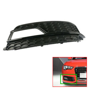 Right Front Bumper Foglight Lower Grille Cover Trim Fit For Audi A5 S-line 13-15