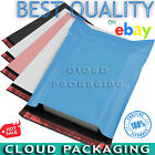 Pink Blue Grey Mailing Bags Coloured Strong Postal Poly Postage Self Seal