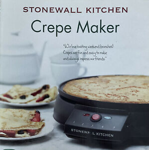 Stonewall Kitchen Electric Crepe Maker 12 Inch Non Stick Griddle