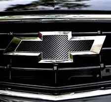 Chevy Camaro CARBON FIBER Bowtie Emblem Overlay Sheets Vinyl Decal Front/Back