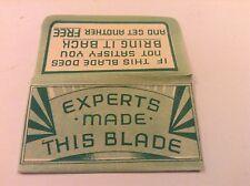 VINTAGE RAZOR BLADE & WRAPPER 'EXPERTS'