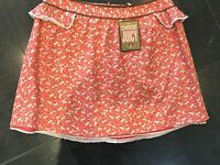 NWT Juicy Couture New & Gen. Ladies Orange Floral Cotton Skirt Small (UK 8/10)