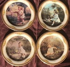 """Lenox """"Garden Songs of Innocence"""" Plate Series 1 thru 4 Limited Edition with Coa"""