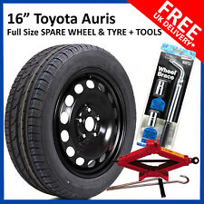 "16"" TOYOTA AURIS 2012 - 2018 FULL SIZE STEEL SPARE WHEEL 205/55R16 TYRE + TOOLS"