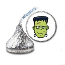 108 FRANKENSTEIN Halloween Party Favors Stickers Labels for Hershey Kiss