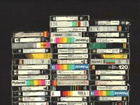 Lot Of 44 Pre-Recorded VHS Tapes Sold As Used Blank T-120 or comparable.