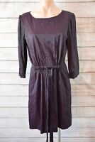 JIGSAW dress Sz 12 medium black purple shift dress