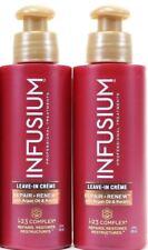 2 Infusium Repair & Renew Leave-In Creme with Argan Oil & Keratin 4oz Bottles