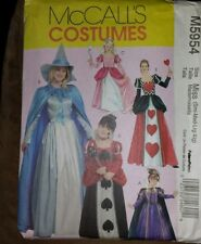 McCall's Costumes Halloween Witch Princess M5954 Halloween Uncut Sewing Pattern