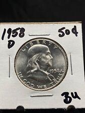 1958-D 50c Franklin Silver Half Dollar BU (3331)
