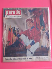 WILLIE SHOEMAKER jockey PARADE magazine Pasadena Star-News October 10, 1954