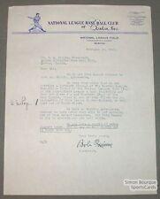 1941 Original Bob Quinn Boston Braves Signed Letter