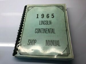 1965 Lincoln Continental Shop Manual   SKU # 3016