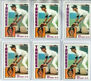 (8) 1984 TOPPS DON MATTINGLY ROOKIES (NM/MT)