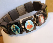 Religious Figures Very Beautiful Wooden Elasticated Bracelet With