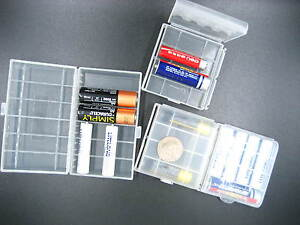 clear hard battery Case Holder Storage Box For Rechargeable AAA AA 14500 battery