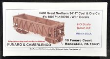 LMH Funaro F&C 6460  GREAT NORTHERN Ry GN 34' Coal Ore Hopper Old Time Wood Side