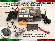 KIT 4 SENSORI DI PARCHEGGIO AUTO GRIGIO DISPLAY PEUGEOT 206 207 4008 308 1008