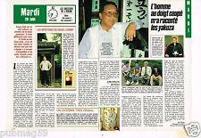 Coupure de presse Clipping 1988 (2 pages) Isamu Fujii Chef Yakuza