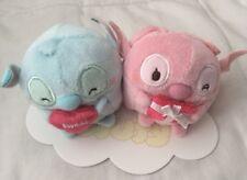 New Disney Store Japan Valentine MINI Ufufy Plush Stitch And Angel