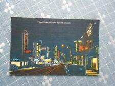 1950s linen look Postcard, Yonge Street At Night, Toronto, Canada, K3135