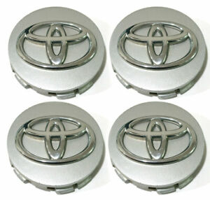 Silver Wheel Center Caps Hubcaps for 05-12 Toyota Avalon Sienna OEM 2.5'' 4pc