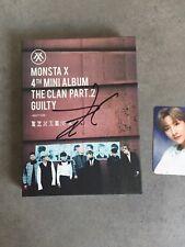 Monsta X Changkyun I.M Mwave Signed The Guilty Album Kpop