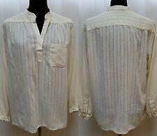 Vintage 1970's Adelaar Ivory Tunic Shirt-Open Weave-Peasant Artist-Size M