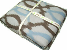 West Elm Organic Cotton Multi Colors Brown Ikat Links King Duvet Cover 2 Shams