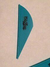 """Bohning 12 Pack 2"""" Teal Blazer Vanes Arrow Fletching Vane Feathers"""