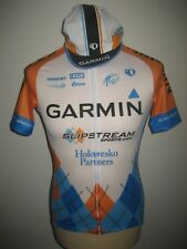 Garmin Slipstream WORN by VAN DER VELDE jersey shirt + cap cycling mailot size M