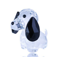 Clear Crystal Glass Lovely Dog Figurine Paperweight Wedding Home Decor Lady Gift