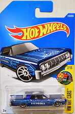 HOT WHEELS 2017 HW ART CARS '64 LINCOLN CONTINENTAL BLUE