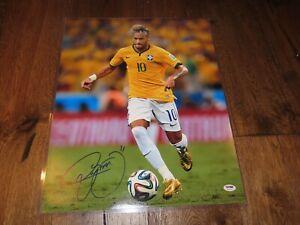 Neymar Jr Signed Team Brazil 16x20 Photo Soccer Autographed PSA/DNA LOA 1A