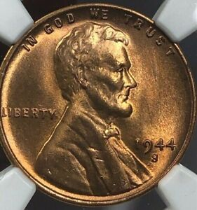 1944 S NGC MS67 RD Lincoln Wheat Cent 1c ~ Lustrous Red Gem * SPECTACULAR! *