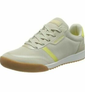 Skechers Zinger Heritage Pearlescent Path Natural and Yellow Lace Up Trainer UK6