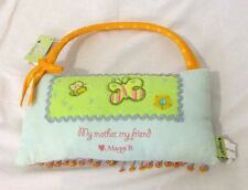 My Mother My Friend Door Knob Pillow Embroidered 8.5 X 4.5 Inches By Maggie B