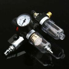 Air Pressure Regulator Gauge Spray Gun In-Line Water Trap Air Filter Install Kit