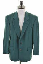 HUGO BOSS Mens 2 Button Blazer Jacket EU 46 Small Green Wool  FJ07