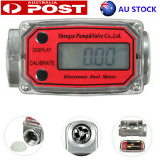 "Turbine Digital Diesel Water Fuel Flow Meter Oval Gear Flow Gauge 1""15-150L/Min"