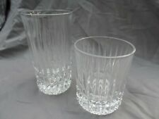 """Fostoria Crystal Heritage 8 Pcs 4- 5 1/2"""" Highball 4- 4"""" Double Old Fashioned"""
